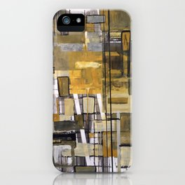 Ochre Depth Rectagle Design iPhone Case