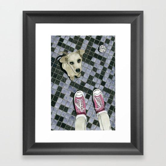 Let's play: Dog Framed Art Print
