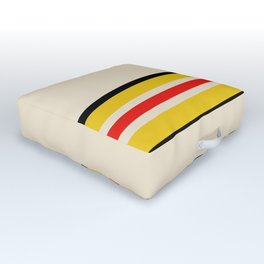 Classic Retro Stripes Amemasu Outdoor Floor Cushion