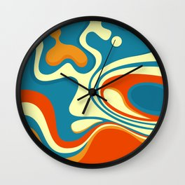 Oily Swirl Abstract Wall Clock