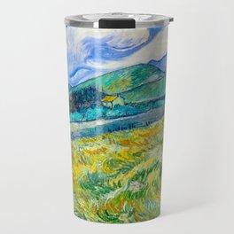 Mountain Landscape behind the Saint Paul Hospital Painting by Vincent van Gogh 1889 Travel Mug
