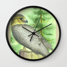 Merlin Falcon Wall Clock