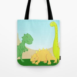 Friendly dinosaurs Tote Bag