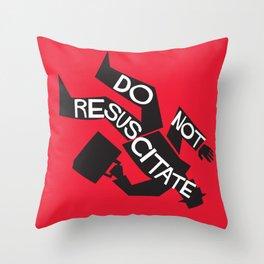 Do Not Resuscitate - Alfred Hitchcock - Saul Bass Throw Pillow