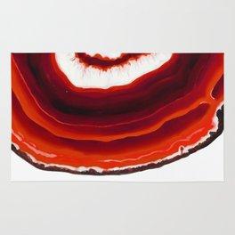 Colorful Red Diamond Agate Slice Rug