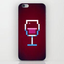 Pixel Wine iPhone Skin