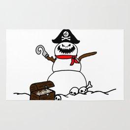 Pirate Snowman Rug