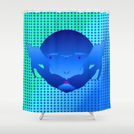 1207 Bluebeard ... Shower Curtain