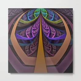 Prismatic Rainbow Shards of a Stained Glass Motif Metal Print