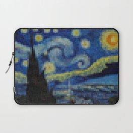 Pixel Starry Night Laptop Sleeve