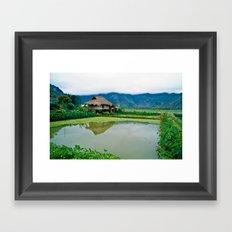 Mountain Village in Vietnam Framed Art Print