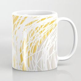Yellow Doodle Floral by Friztin Coffee Mug