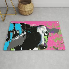 Painted cow Rug