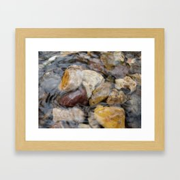 Just Under the Surface Framed Art Print