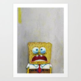 SPONGEBOB SCREAMING Art Print