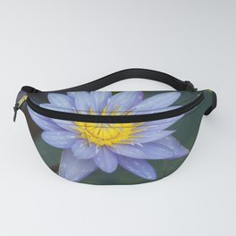 Water Lily Blue Fanny Pack