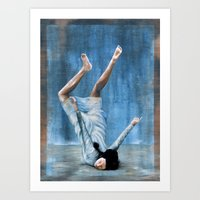almost famous Art Prints featuring Almost Blue by FAMOUS WHEN DEAD