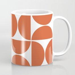 Modern Geometric Seamless Orange Pattern Mid Century Coffee Mug
