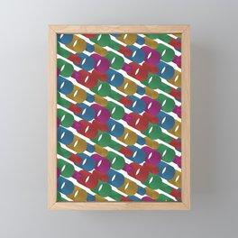 3D X Pipes Framed Mini Art Print