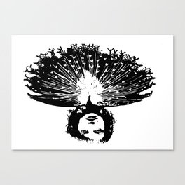 Lady Peacock Canvas Print