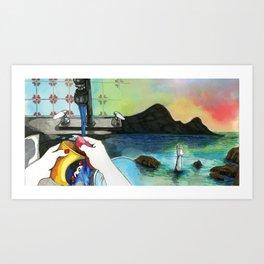 Washing Up Art Print