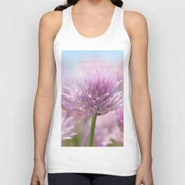 Allium pink macro 303 Unisex Tank Top