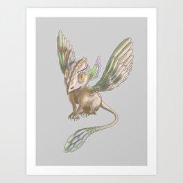 Sparrow dagon by Dreamingsenga Art Print