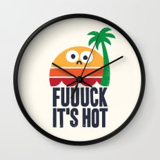 Heated Rhetoric Wall Clock
