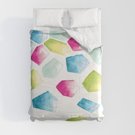 Watercolour Crystals | Blue, Pink and Green Comforters