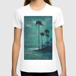 Tropical Nocturnal Landscape with Palms by Charles Warren Eaton T-shirt