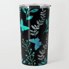 Watercolor flowers & butterflies IV Travel Mug