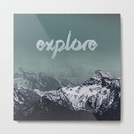 Salzburg Mountain-Explore Design Metal Print