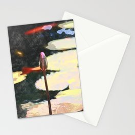 lotus bud painting Stationery Cards