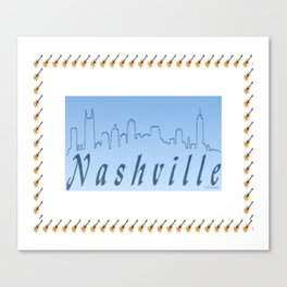 Nashville Skyline Blue Canvas Print