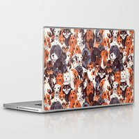 pomeranian Laptop & iPad Skins featuring Pack of Dogs by Chervelle Fryer