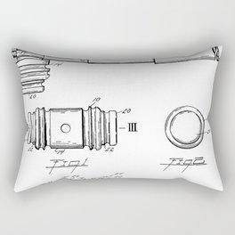 Judge Gavel Patent - Lawyer Art - Black And White Rectangular Pillow