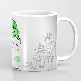 Lady Wrap (green) Coffee Mug