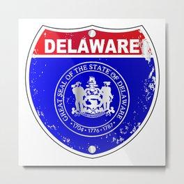Delaware  Interstate Sign Metal Print