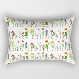 Spring Flowering Bulbs Rectangular Pillow