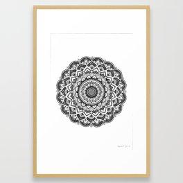 Samsara Mandala Framed Art Print