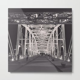 Nashville Bridge Metal Print
