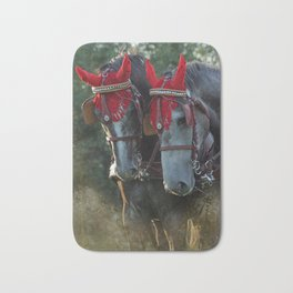 Carriage horses Bath Mat