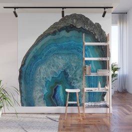 Blue agate, Marble, Faux Druse, Crystal, Quartz, Gem, Gemstone, Wall Mural