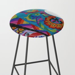 Up close - Guatemalan Kites Bar Stool