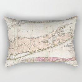 Long and Staten Island Map Rectangular Pillow