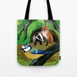 Of foxes and badgers Tote Bag