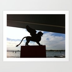 The Lion can fly Art Print