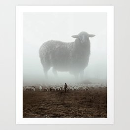 The Black Sheep Art Print