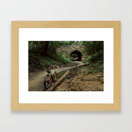 Exploring/ Under the Bridge Framed Art Print