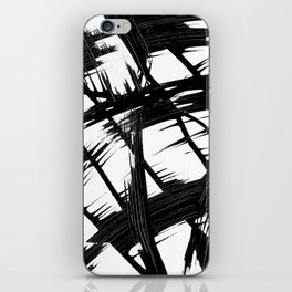 Whipped Into Motion Black On White iPhone Skin